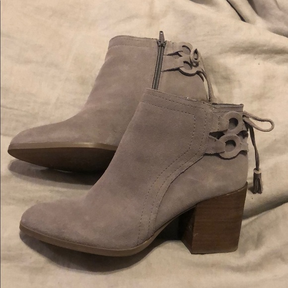 99f95e83387 Vince Camuto grey suede booties size 8